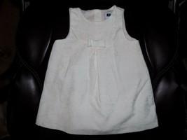 Janie and Jack Velvet White/Pink Rose Print Dress Size 6/12 Months Girl'... - $30.42