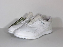 New Vtg REEBOK Womens 9.5 Leather Fitness Walker Walking Spell Out Shoes White - $64.30