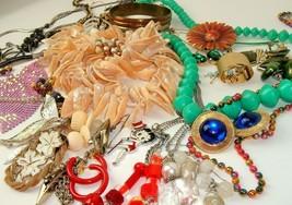 Costume Jewelry Lot Boho Mod mixed materials vtg Emmons 1928 Avon Mjent ... - $34.60