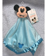 """Disney Baby Blue MICKEY MOUSE Lovely Security Blanket Blankee Plush NWT 15"""" - $17.99"""