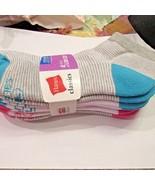 Hanes Classics Girls Low Cut Socks Four Pack Lg 4-10 - $9.89