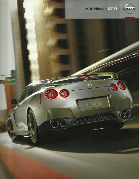 2010 Nissan GT-R sales brochure catalog poster 10 US Skyline