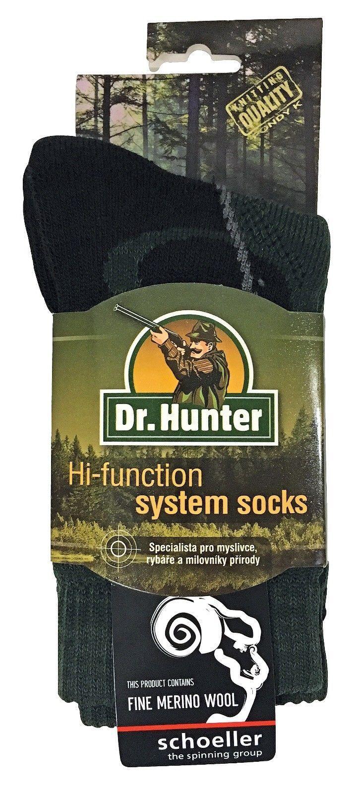 Dr Hunter - Herren merino wolle grün kurz socken mit verstärkter ferse