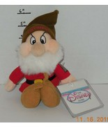 "Disney Store Exclusive Snow White & Seven Dwarfs Grumpy 8"" Beanie plush toy - $14.85"