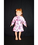 """FCM 1996 18"""" Red haired Green-eyed Doll unique pink flower poodle nightgown - $34.95"""