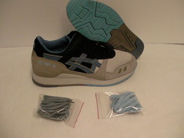 Asics men's shoes gel lyte iii light grey captain blue size 8.5 new with... - $148.45