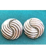 VINTAGE STERLING SILVER LATON TAXCO MEXICO CLIP BACK EARRINGS 925 EACH M... - $39.59