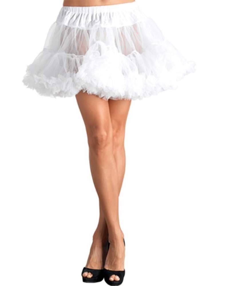 NEW LEG AVENUE WOMEN'S SEXY TUTU DANCE PETTICOAT SKIRT 8990 ONE SIZE WHITE
