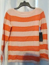 NWT Tommy Hilfiger Long Sleeve Striped Sweater Chalk Pink S & M Org $69.50 - $6.99