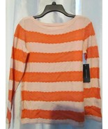 NWT Tommy Hilfiger Long Sleeve Striped Sweater Chalk Pink S & M Org $69.50 - $5.99