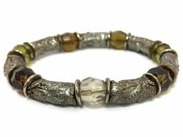 Enamel Beaded Fashion Stretch Bracelet, New - $4.74