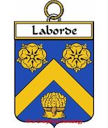 LABORDE French Coat of Arms Print LABORDE Famil... - $25.00