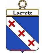 LACROIX French Coat of Arms Print LACROIX Famil... - $25.00
