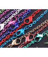 "Silver Plated  Mix  Color  Lead Free  18"" larger links - $3.50"