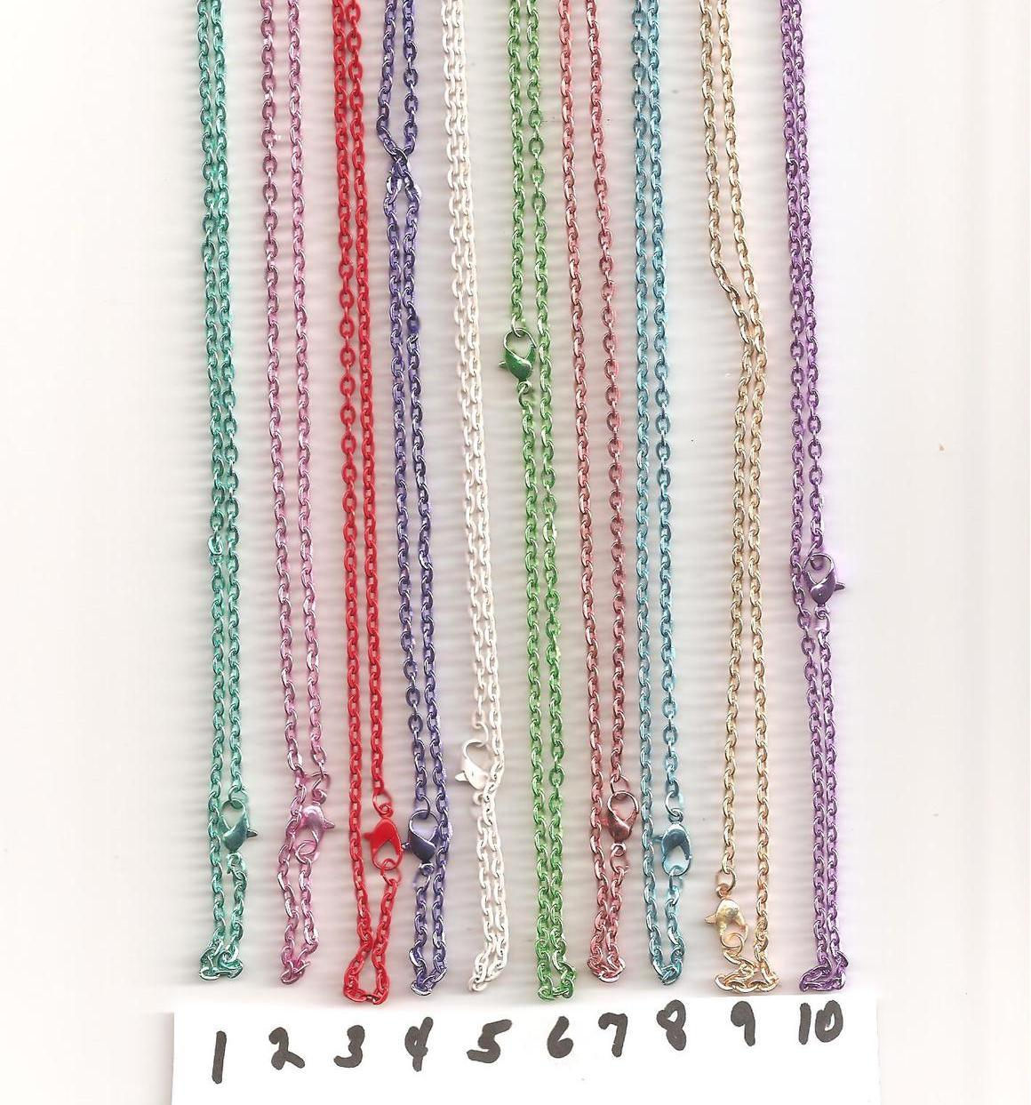 """Silver Plated  Mix  Color  Lead Free  18"""" larger links"""