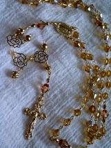 Amber Gold Rosary - $25.67