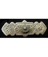 Antique Victorian Eastlake Era Bar Pin Gold On Silver? - $19.50