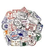 50 Pcs Transparent Stickers Retro Style Postmark Stickers Vinyl Waterpro... - $17.45