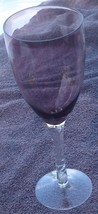 Gently Used Long Stemmed Amethyst  Glass Wine Goblet - VGC - GREAT VINTA... - $16.82