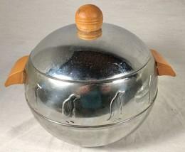VINTAGE 1940S 50S ART DECO WEST BEND PENGUIN HOT & COLD SERVER ICE BUCKET - $49.49