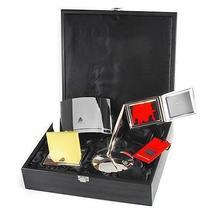 TONINO LAMBORGHINI SL002 5 PIECE WITH BLACK BOX OFFICE DESK ACCESSORIES - $495.95