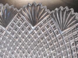 "10""American Brilliant Period Hand Cut Glass bowl strawberry diamond fan abp - $144.58"