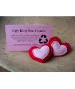 Ugly Kitty Eco-Tossers - Red Rocker Stolen Heart - Organic  - $8.00