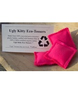 Ugly Kitty Eco-Tossers - Punk Pink - Organic Catnip Toy - $8.00