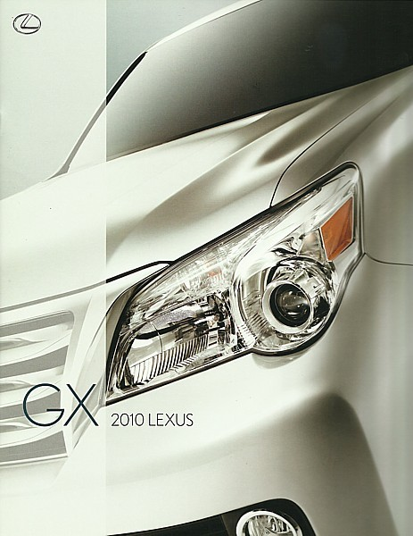 Primary image for 2010 Lexus GX 460 sales brochure catalog 10 US