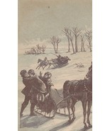 Victorian Trade Card Sleigh Ride Children Horse - $5.93