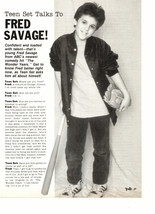 Fred Savage teen magazine pinup clipping holding a baseball bat Teen Set