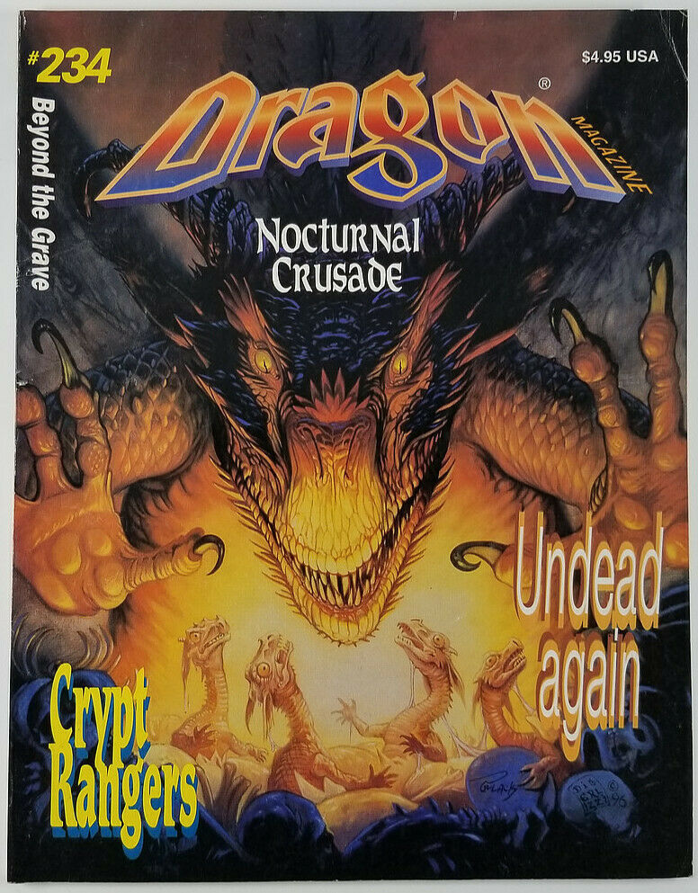 TSR Dragon Magazine #234 Crypt Rangers, Nocturnal Crusade, Undead Again - $13.54