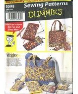 Simplicity CRAFT Sewing Pattern for Dummies #5598 TOTES & ACCESSORIES - ... - $11.99