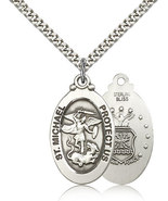 Air Force Medal Pendant - Sterling Silver St. Michael medal and chain - $67.99