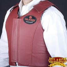 Hilason Maroon Leather Bareback Pro Rodeo Horse Riding Protective Vest U-V111 - $125.34+