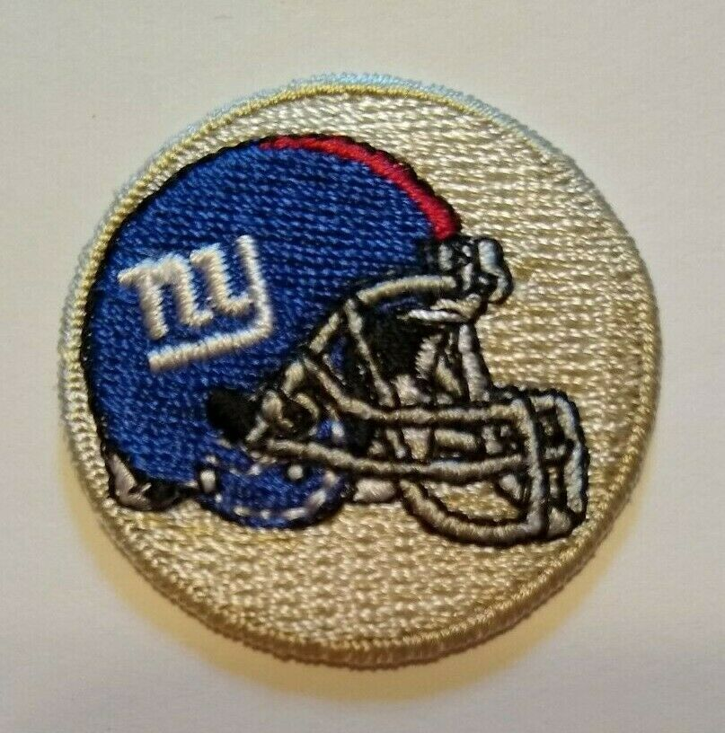 "Primary image for New York NYG Giants Embroidered PATCH~1 1/2"" Round~Helmet~Iron Sew On~NFL"