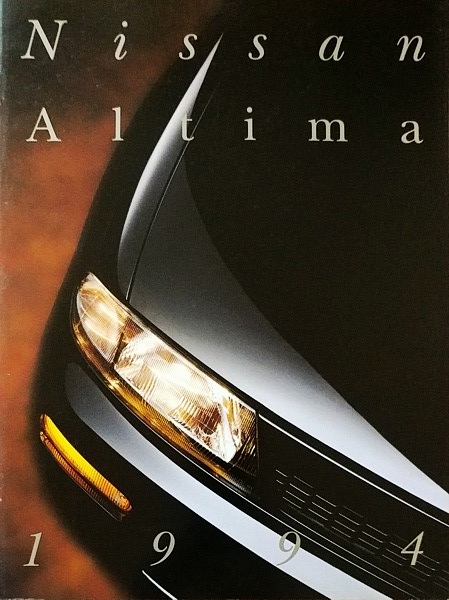 1994 Nissan ALTIMA sales brochure catalog 2nd Edition US 94 GXE SE GLE