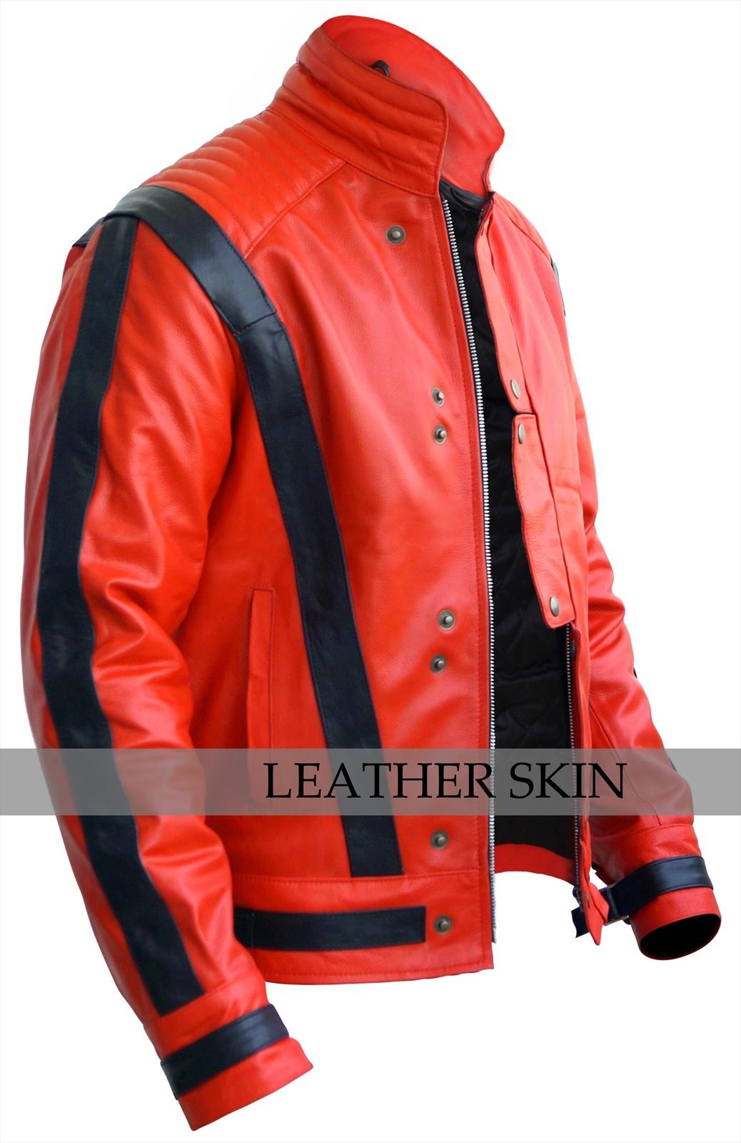 Michael jackson red leather jacket