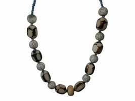Two-Tone Resin Beaded Necklace - $9.80