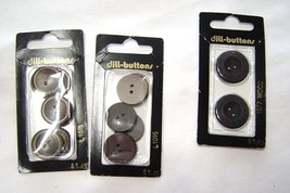"Brown Plastic Buttons Round 3/4"" and 7/8"" Dill Buttons - $4.99"
