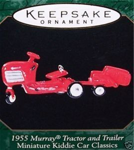 Hallmark 1955 MURRAY TRACTOR AND TRAILER Ornament - 1999