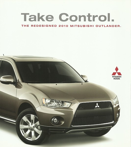2010 Mitsubishi OUTLANDER sales brochure catalog 10 US XLS SE GT