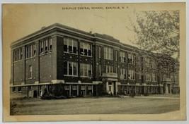 Old VTG Early Image Postcard Earlville Central School Bldg., Earlville, ... - $9.79