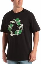 Etnies Herren Schwarz Recycling Sk8 Skateboard T-Shirt Groß Neu