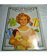 Vintage Classic Shirley Temple Paper Dolls in Full Color 1986 - $12.00