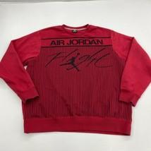 AIR Jordan Sweatshirt Mens 3XL XXXL Red Crew Neck Flight All Over Print ... - $29.99