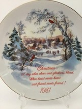 American Greetings 1981 Christmas Plate Commemorative Edition Porcelain Gold GUC - $19.95