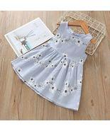 Toddler infant baby kids girls sleeveless flower print dress princess dresses  2  thumbtall