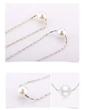 FASHION  PEARL PENDANT NECKLACE RHODIUM PLATED 16 IN CHAIN WEDDING NECKL... - $19.99