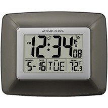 La Crosse Technology WS-8008U Atomic Digital Wall Clock with Indoor Temp... - $35.26